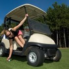 E-Z-Go golf carts use a two bank system consisting of six batteries for electric power.
