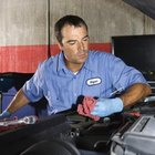 Check spark plugs, fuel delivery and air-fuel mixture to troubleshoot rough idle.