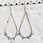 Get Punked! DIY Spiked Teardrop Earrings