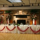Decorating the Head Table at a Wedding Reception