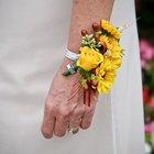 How to Make a Gerbera Wrist Flower Corsage
