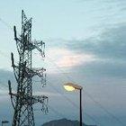 Partes de una torre de transmisión eléctrica