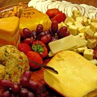 Arrange Party Trays of Cheese & Grapes
