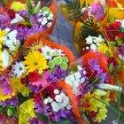 Diferentes tipos de flores utilizadas en arreglos florales