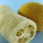 Artesanías con esponjas vegetales