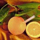 Niveles de fructosa en una naranja