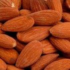 Información nutricional de almendras crudas