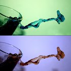 Experimentos de ciencia con agua caliente y hielo