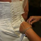 Types of Bustles on Wedding Gowns