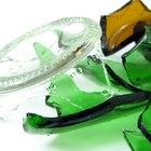 Manualidades usando vidrios rotos