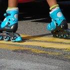 Entrenamiento del esquí sobre ruedas contra el patinaje