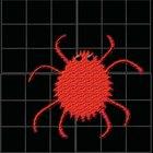 Pequeños insectos rojos en el concreto