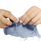 Cómo tejer mitones sin dedos con dos agujas de tejer