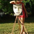 Cómo pintar un rostro realista con pintura acrílica