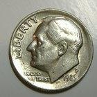 Cuánto es el valor de una moneda de diez centavos Libertad de 1942