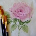 Instrucciones sobre cómo pintar flores utilizando pinturas acrílicas