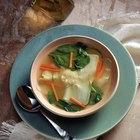 Datos nutricionales de la sopa agridulce