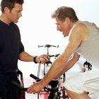 Entrenar para un triatlón en una bicicleta fija