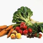 Verduras bajas en proteína