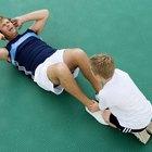 Cómo determinar una lesión o un tirón muscular abdominal