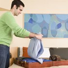 Fold a Dress Shirt to Avoid Creasing in a Suitcase