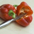 Datos nutricionales de los pimientos rojos