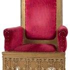 Cómo decorar una silla como un trono