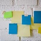 Cómo hacer un block de notas autoadhesivas