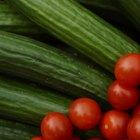Valor nutricional de los tomates y los pepinos
