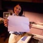 Instrucciones para usar una fotocopiadora