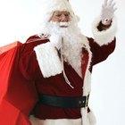 Cómo hacer la bolsa roja y la barba de Papá Noel