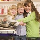 Experimentos de distribución de peso para niños