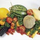 Nutrición: Colores de frutas y verduras