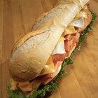 Información nutrimental de los sánwiches de pan plano del Subway