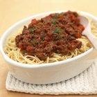 Cómo cocinar carne molida para espaguetis