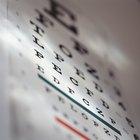 Cómo leer las letras en un examen ocular