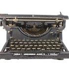 Cómo limpiar máquinas de escribir antiguas