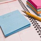 Lista de elementos de papelería de oficina