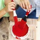 Manualidades de preescolar con el color rojo