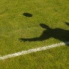 Un camino de mesa con forma de campo de fútbol americano