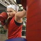 Entrenamiento de saco de boxeo para pérdida de peso