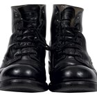How to Make Shiny Black Boots Dull