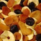Calorías de la fruta deshidratada