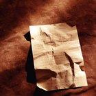Cómo planchar papel arrugado