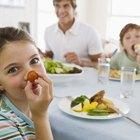 Requisitos calóricos para niños