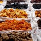 Frutas y verduras altos en calorías