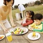 Brochetas saludables para niños