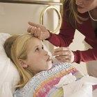 Fiebre en un niño mientras toma antibióticos