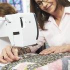 Cómo acolchar un edredón con una máquina de coser