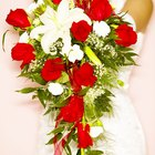 Make a Bridal Cascading Bouquet With Fake Flowers